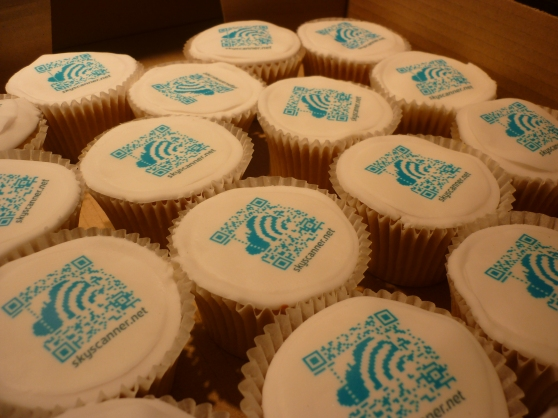 Corporate Skyscanner Cupcakes