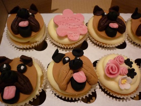Pug Dog Cupcakes x
