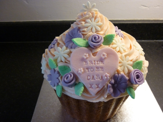 Bride to Be giant cupcake