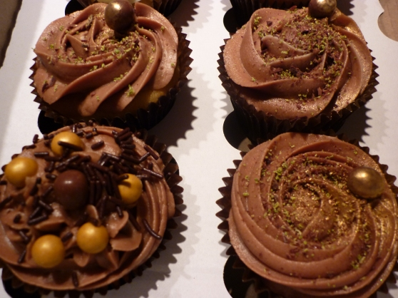 Chocolate Cupcakes with the Midas touch